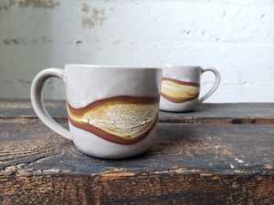 Cappuccino Mug - Crackle Wave