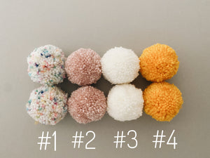 Gray Wool - Double Poms