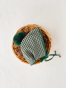 Emerald gingham knit