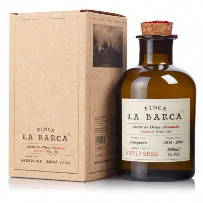 foodelicious.SMOKED OLIVE OIL BOTTLE La barca (500ml)