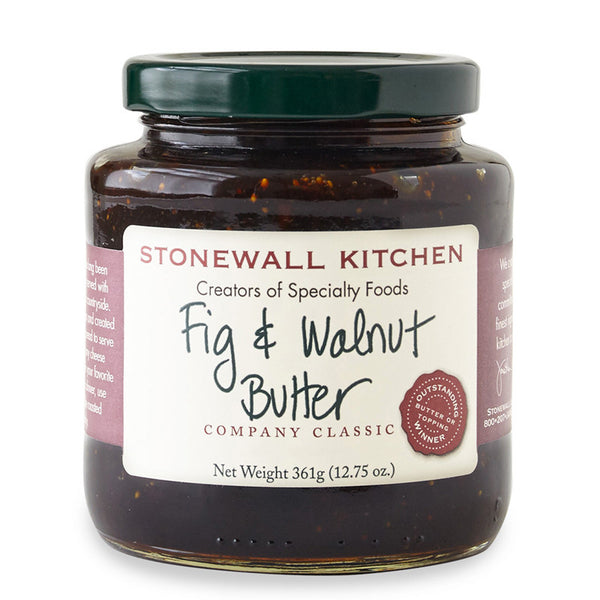 stonewall kitchen - fig & walnut butter-topping