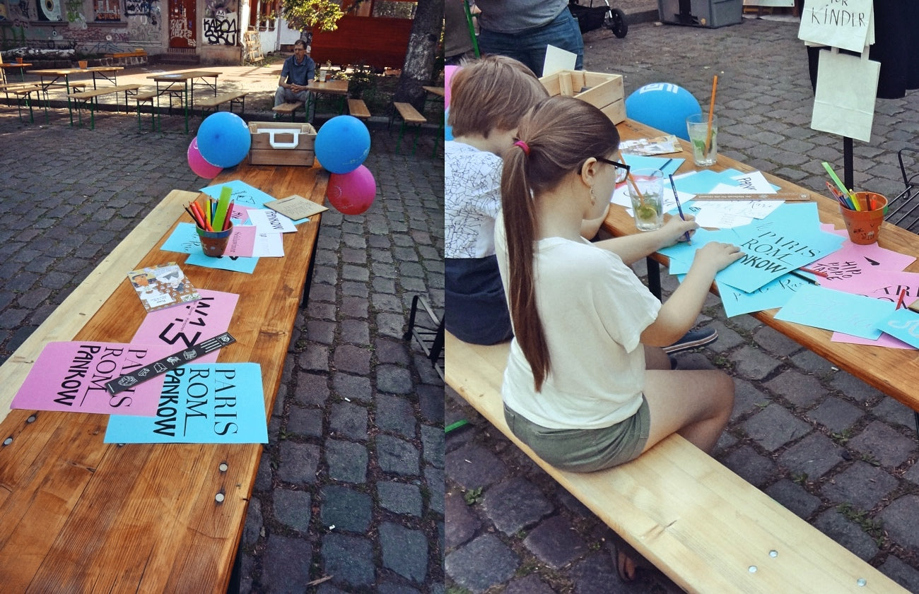 Workshop lettering with kids - Wilde 13 festival