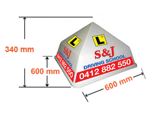 Box LED Sign - Dimensions