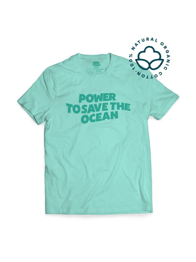 T-Shirt - Ocean Power Green - Sloppytunas