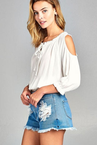 Boho Cold Shoulder Top