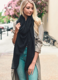 Talia Shredded Open Weave Blanket Scarf
