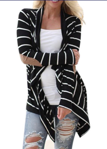Striped Patchwork Cardigan
