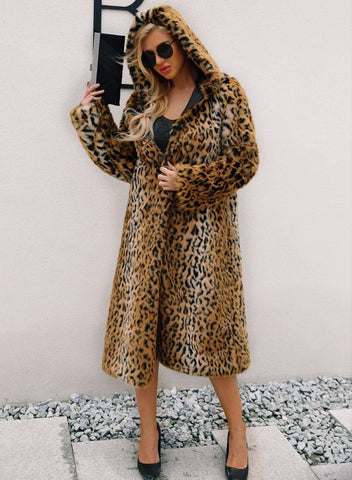 Extra Long Cheetah Fur Coat