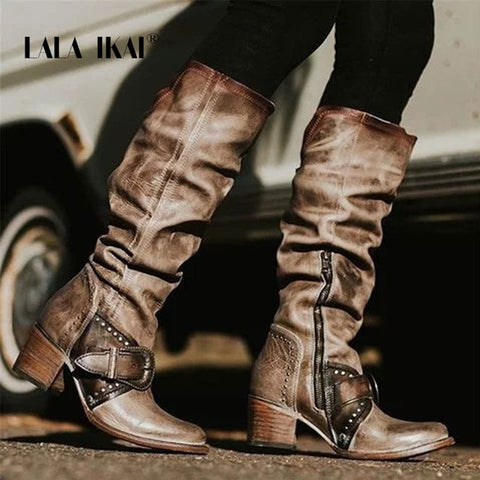 Lala Distressed Boots
