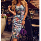 YF Floral Bodycon Dress