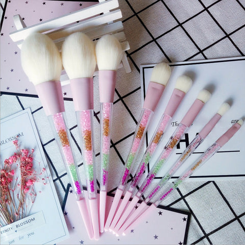 Glitter Make Up Brush Set