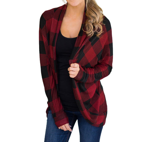 Yannuzzi Plaid Cardigan