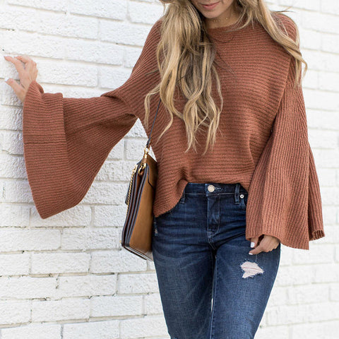 Conmoto Flare Sleeved Sweater