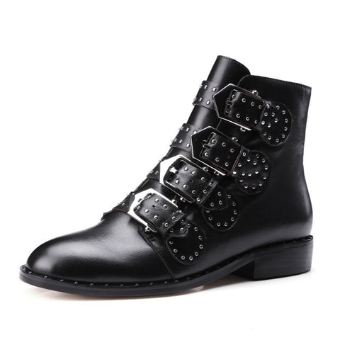 Studded Raven Boots