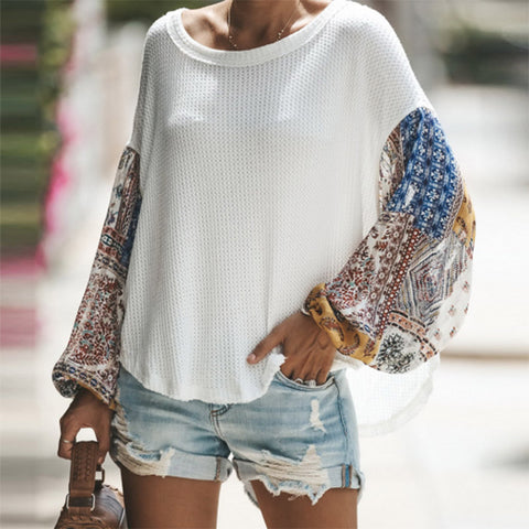 Oversized Patchwork Sweater