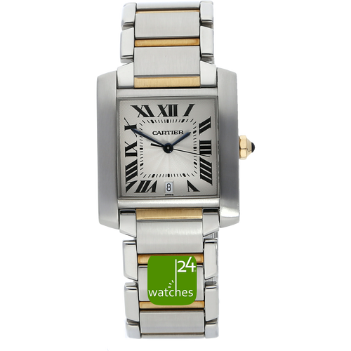 Cartier Tank Francaise Stahl Gold 28 x 31 mm Automatik 2302  www.watches24.com