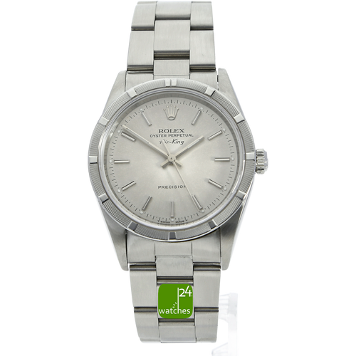 Rolex Air King Oyster Perpetual 34 mm silber Automatik 14010 U Serie