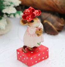 M-684 Christmas Bow Bonnet ~ Wee Forest Folk