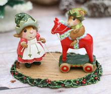 M-682 Dala Horse Elves ~ Wee Forest Folk