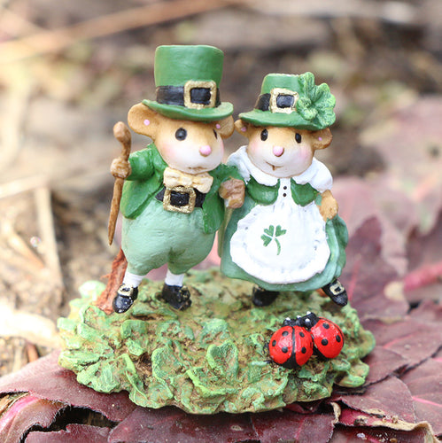 M-393c St. Patty's Day Promenade - Wee Forest Folk