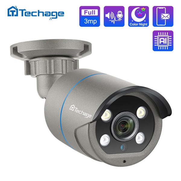 1080P Human Detection 48V POE IP Camera Two Way Audio Home Security Camera