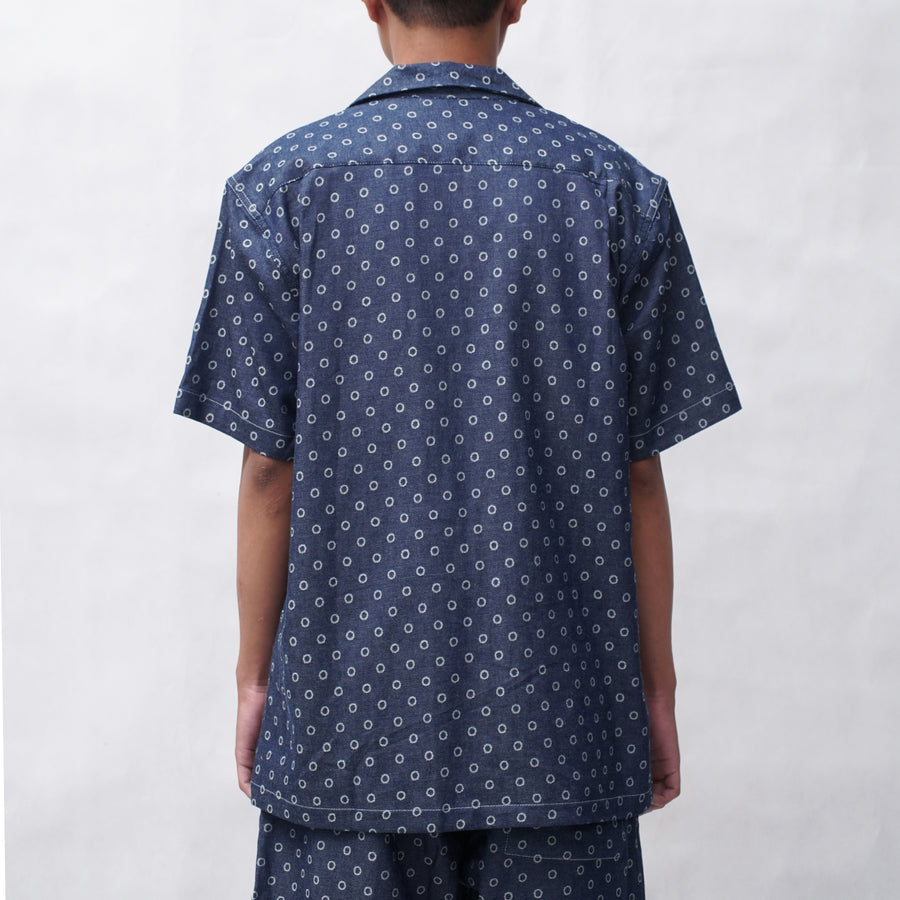 Champ Camp Denim Shirt Polka Dot