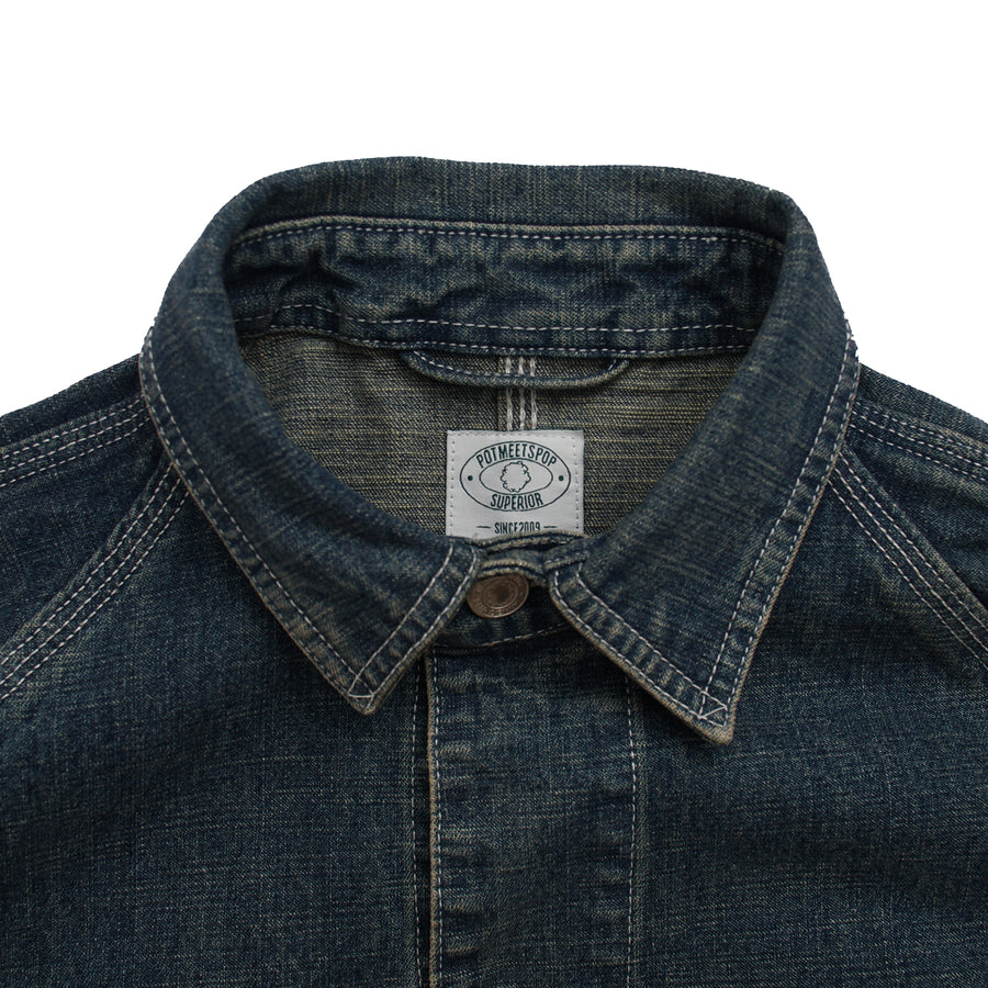 Crypt Coverall Washed Indigo