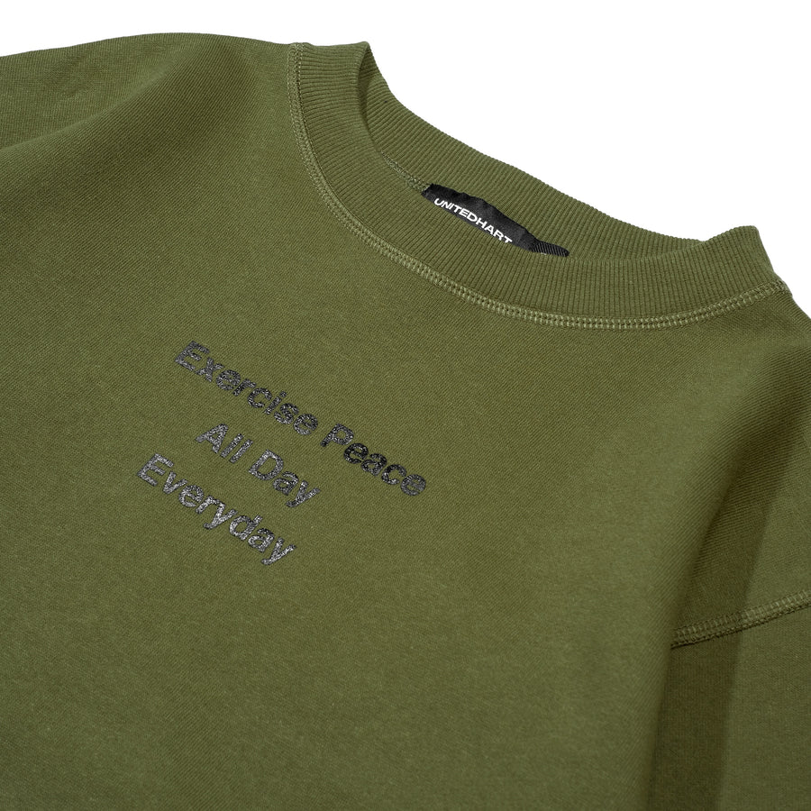 PEACE CREWNECK GREEN