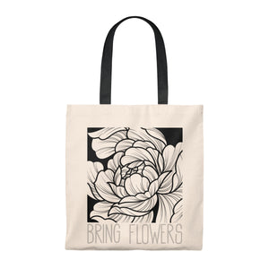 BRING FLOWERS Square Tote Bag (USA)