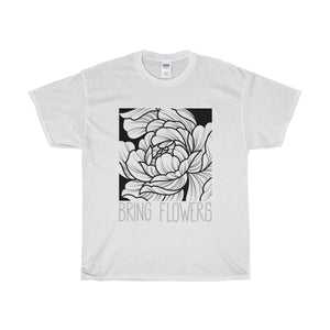 BRING FLOWERS Square Tee (White/USA)