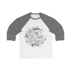 BRING FLOWERS Baseball Tee (USA)