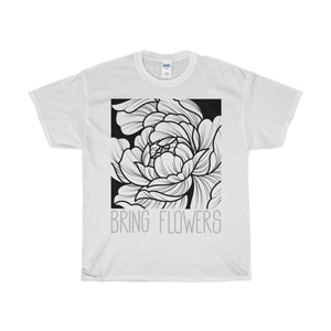 Bring Flowers Square Tee (White/UK)