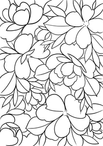 FLORAL - colouring page