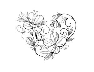 LOVE - colouring page