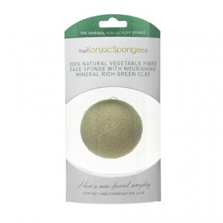 French Green Clay Facial Puff Sponge