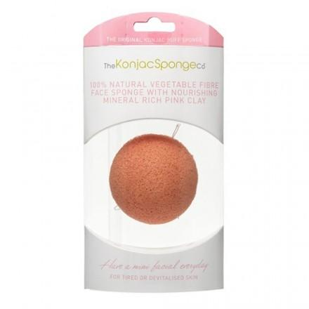 French Pink Clay Facial Puff Sponge