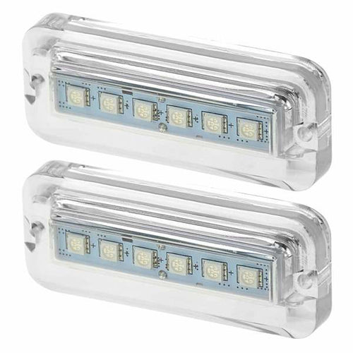 Rectangular Six LED Underwater Light, RGBW, 2-Pack