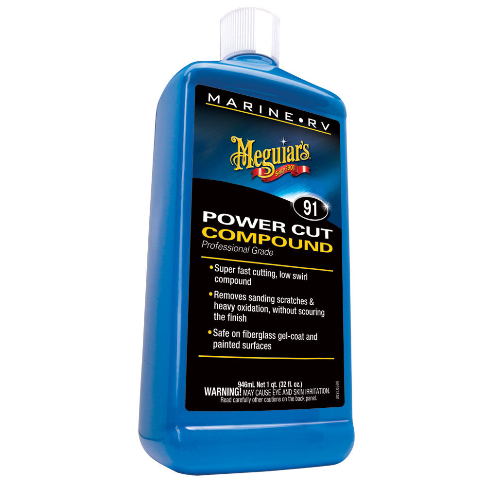 MEGUIAR'S #91 MARINE/RV PRO GRADE POWER CUT COMPOUND - 32OZ