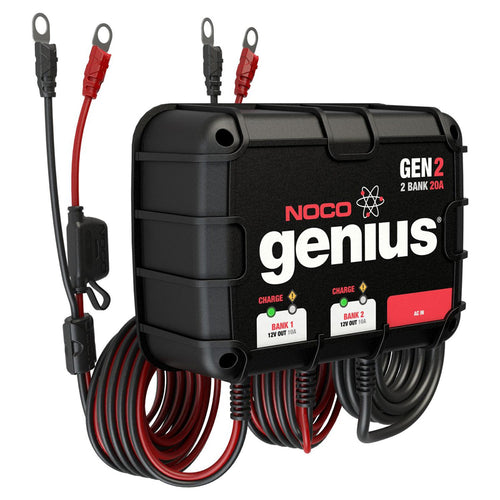 NOCO GENIUS GEN2 20A ONBOARD BATTERY CHARGER - 2 BANK