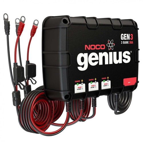 NOCO GENIUS GEN3 30A ONBOARD BATTERY CHARGER - 3 BANK