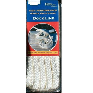 Custom Cordage Double Braid Dock Line - White