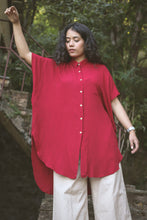 Load image into Gallery viewer, Cinnobar Scarlet Kaftan Shirt
