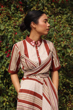 Load image into Gallery viewer, Brandy Stripe Tie-Up Dress