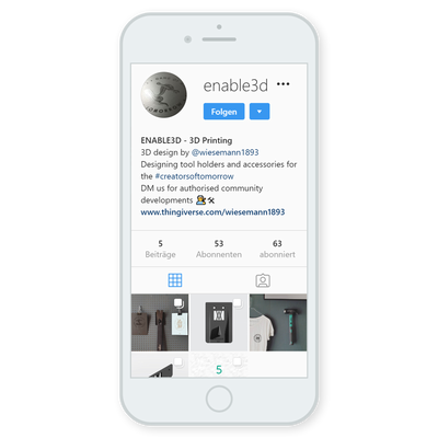 ENABLE 3D auf Instagram