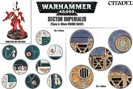 Warhammer 40k: Sector Imperialis - 25mm & 40mm Round Bases