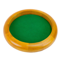 Dice Tray WD: 12 inches Wooden - Circular