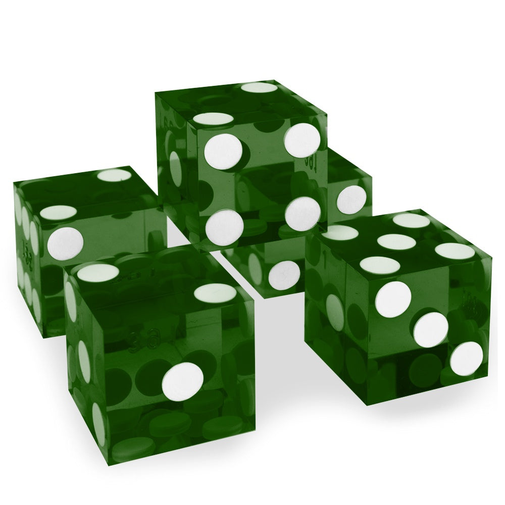 Dice: Wiz Dice - 19mm D6, Precision Dice Singles, Green