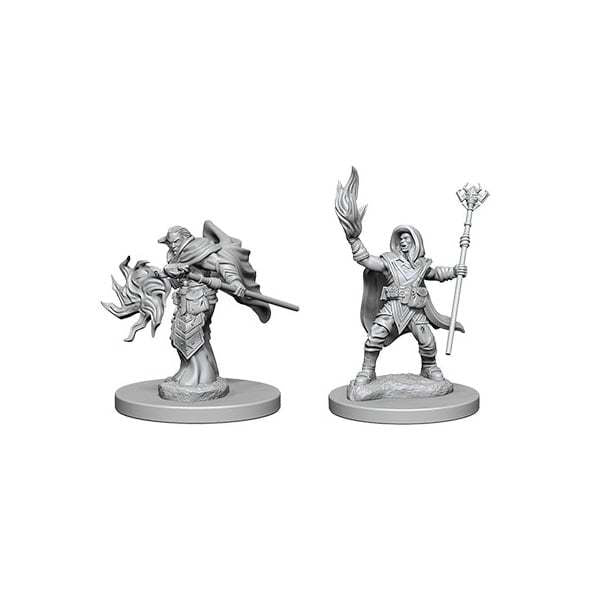 D&D RPG: Nolzur Unpainted Minis - Elf Male Wizard (x2)