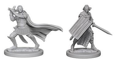 Pathfinder RPG Minis: Deep Cuts Unpainted - Elf Male Paladin (x2)