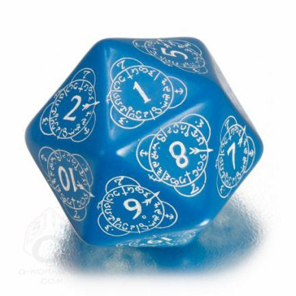 Dice: Q Workshop - D20 Level Counter, Blue & White (Single)